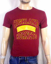 vtg 80s retro Highland Hornets 2 Ply T-Shirt Gym PE Physical Education sz S
