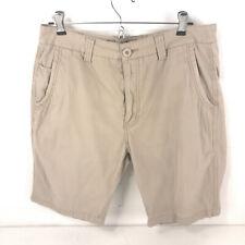 Hush Puppies shorts men's 32 beige missing one back pocket button sht7
