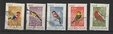 Yougoslavie  1968 oiseaux 5 timbres oblitérés /T2152