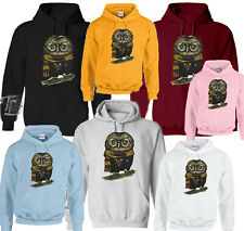 HARRY POTTER INSPIRED OWL WITH GLASSES AND SCARF PRINT TRENDY UNISEX  HOODIES