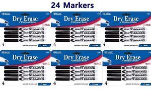 24x Fine Tip Dry Erase Whiteboard Black Marker 24 PCS