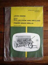 John Deere HZ Hillside Dryland Press Grain Drills operators Manual NOS