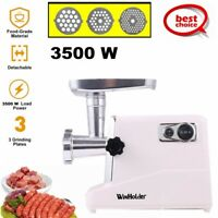 Electric Meat Grinder Sausage Stuffer Commercial Industrial Stainless Steel Home
