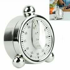 60 Minutes Loud Alarm Clock Mechanical Kitchen Timer Cooking Reminder Clock