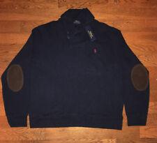 New Men's Polo Ralph Lauren French Rib Shawl Pullover Sweater Cardigan 2XL XXL