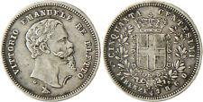 ITALIE   VICTOR  EMMANUEL  50  CENTESIMI   1860  FLORENCE  MOUSTACHE 1 POINTE
