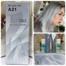 NEW Berina Light Grey Silver A21 Permanent Hair Dye Color Cream Free Shipping