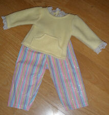 N-handcrafted pjs fit American Girl and other similar-sized dolls