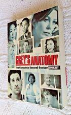 GREY'S ANATOMY COMPLETE SEASON 2 (UNCUT) DVD, 6-DISC BOX SET, R-1, LIKE NEW