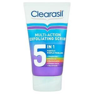 Clearasil 5 in 1 Multi-Action Exfoliating Scrub for Oily, Acne-Prone Skin 150ml