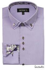 Men's High Quality Dress Shirt Solid Color 9 Colors Size 15 1/2 ~ 20 1/2