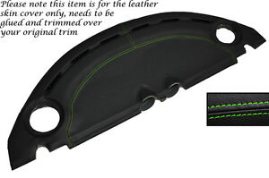 GREEN STITCH DASH LEATHER SKIN COVER FITS LOTUS ELISE EXIGE S2 2007-2012