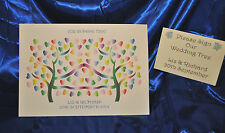 large A3+ Wedding tree Personalised Alternative Guest Book NO INKS NEEDED