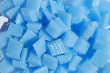 "100 Mosaic Tiles 3/8"" BLUE VITREOUS ITALIAN GLASS TILES Supplies Craft Pieces 03"