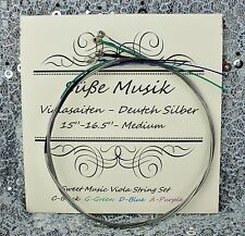 "Viola String Set-German Silver C G D A for 15"" - 16.5""  Süße Musik"