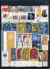 Israel 1973 Year Set Full Tabs VF MNH with proper landscapes for this year