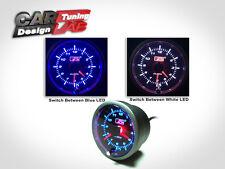 52mm Car Auto Gauge Meter BLUE/WHITE LED CLOCK TIME 12V