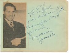 Giovanni Zavatti - autograph inscription & signature by the opera tenor