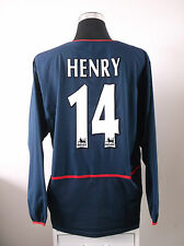 Thierry HENRY Arsenal #14 manica lunga via FOOTBALL SHIRT JERSEY 2002/03 (XXL)