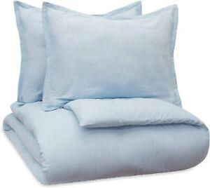 Vue Bedding Set with 2 Coordinating Shams, Light Blue king