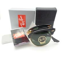 AUTHENTIC Ray Ban 2176 Folding Clubmaster 901 Black G15 New 51mm