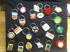 LARGE Lot Vintage Key Chain CHEVRON PHILLIPS 66 OLYMPIA Souvenirs Advertisment