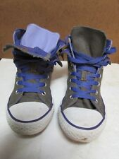 Converse Chuck Taylor All Star Hi Top Gray Purple Painted Sneakers Shoes Size 4