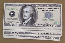 100 HAMILTON FAKE $10 CASINO DOLLARS WHOLESALE LOT NOVELTY $10 DOLLAR BILLS