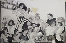 1960'S PAINTING VINTAGE PINNUP STYLE EROTIC NUDE RISQUE  ILLUSTRATION PIRATE