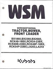 Kubota BX1860, BX2360, BX2660 Tractor Workshop Service Manual 9Y111-01952