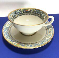 Lenox Autumn Gold Backstamp Tea Cup & Saucer Set s