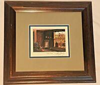 "ALLEN MONTAGUE Signed Country Print ""Times Past"" Framed Double Matt 10.75x11.75"
