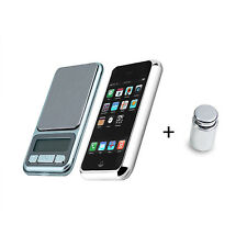 NUOVO portatile LCD digitale peso di calibrazione Scala iPhone/iPod 0.01-200g + peso