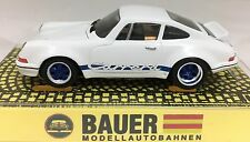 Bauer Porsche 911 Rsr 1973 White With Blue Deco Older Re-Release Aw T-Jet Chassi