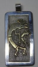 Indianerschmuck Navayo Zuni Figur Gold Silber Pendant Anhänger sign. ER Nr.237