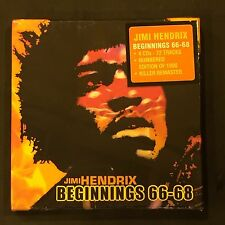 JIMI HENDRIX  - BEGINNINGS 66 - 68  LIMITED EDITION NUMBERED 4 CD BOXSET