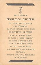 "C5229) WW1 SATIRICA ANTI AUSTRIACA, ""SULLA TOMBA DI FRANCESCO GIUSEPPE""."