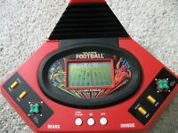 Talking Football Bears Rhinos Handheld Electronic Video Game Play by Play 1986