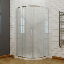 Quadrant Shower Enclosure Cubicle Walk in Corner Glass Door Stone Tray Waste 1000x1000mm Universal Yes-plinth