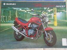Suzuki Bandit N600 motorcycle brochure Nov 1994 UK market