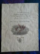 More details for engraver thomas bewick – exceptional signed document 1818 with fingerprint too!