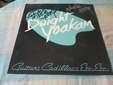 DWIGHT YOAKAM AUTOGRAPHED ALBUM FLAT POSTER 1986 ALT COUNTRY