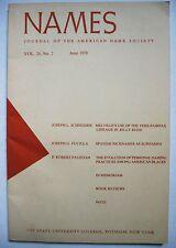 Journal American Name Society Mellville Spanish Nicknames Black American Naming