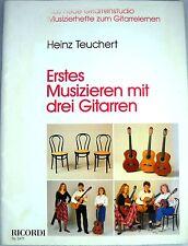 Heinz Teuchert - Erstes Musizieren mit DREI Gitarren Noten - Introduction Guitar