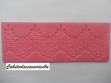 Flower Border Silicone Lace  Fondant Mould Cake Decoration Sugarpaste Icing Clay