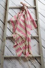 Large Hammam Bath Towel Turkish Peshtemal Sarong Beach Spa Gym Cotton Pink