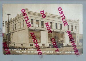 Gary MINNESOTA RPPC 1908 GENERAL STORE Mercantile nr Ada Twin Valley Mahnomen
