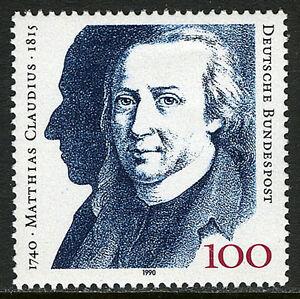 Germany 1611, MNH. Matthias Claudius, Writer, 1990