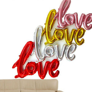 Foil Ballons Birthday Wedding Party Marriage Decor Huge LOVE Letter Large B2Z