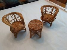 Vintage Wicker Doll Furniture Set of 3 pieces